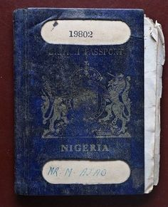#ThrowbackThursday to when the Nigerian Passport was blue.