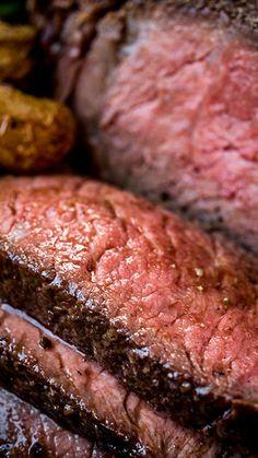 Pepper-Crusted Cowboy Rib Eye with Shiitake Mushroom Butter Recipe