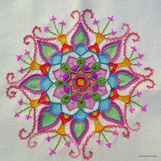 Hand embroidered Mandala. By Joana Lourenço, Brazil.