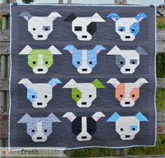Sew Fresh Quilts: Dog Gone Cute maxi quilt finish.  Free and fun Quilt Along begins September 1st!