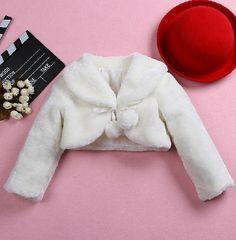 Flower Girl Faux Fur Bolero Flower girl jacket by abbyswardrobe
