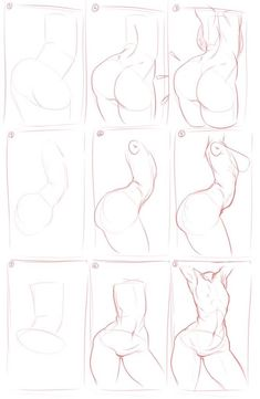 fc03님의 드로잉 튜토작입니다 엉덩이 그릴때 참고해주세요 :)