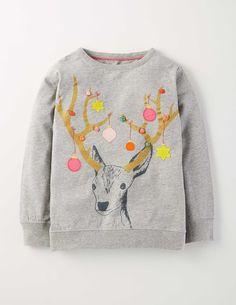 Grey Marl Reindeer Colour Pop T-Shirt Boden Christmas Jumpers, Christmas Shirts, Christmas Sweaters, Xmas T Shirts, Kids Christmas Clothes, Christmas Clothing, Christmas Outfits, Womens Christmas Jumper, Christmas Baby