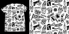 """PATTERN"" t-shirt design by C A T S N E E Z E"