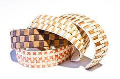 woven cedar bark bracelets, Vivian Benson (Tsimshian)