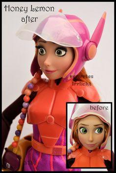 Disney Dolls, Barbie Dolls, Hero 6 Movie, Disney And More, Halloween 2015, Doll Repaint, Big Hero 6, Princess Zelda, Disney Princess