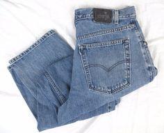 Levis SilverTab Baggy Jeans 36 x 34 Big Blue Retired Model Denim Cotton Vintage #Levis #BaggyLoose
