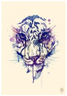 Tiger canvas print, could definitely work as a tattoo.