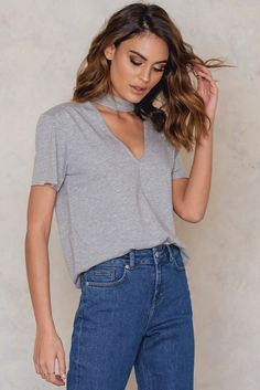 V Cut Out Tee