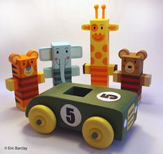 Wood toys by Eric Barclay
