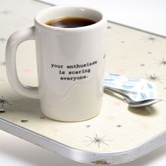 Coffee Intervention Funny Ceramic Coffee Mug - Retro Planet