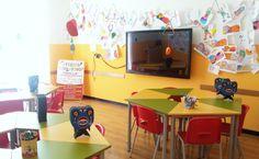 #ateliercreativi allestimento classe 3.0   #innovation #education  #didaskalos Modern Classroom, Corner Desk, Innovation, Education, Digital, Furniture, Home Decor, Atelier, Corner Table
