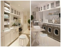 Haute Indoor Couture: The Laundry Room The Effective Pictures We Offer You About tidy up desk A quality picture can tell you many things. Mudroom Laundry Room, Large Laundry Rooms, Tidying Up Book, Doing Laundry, Room Planning, Tidy Up, Home Organization, House Plans, New Homes