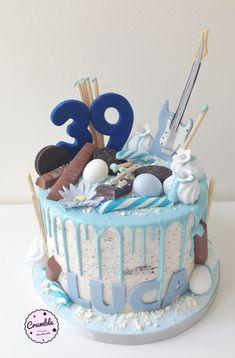 Tante tante calorie dentro e fuori per il compleanno di Luca #dripcake #oreo #chitarra #compleanno #cioccolato