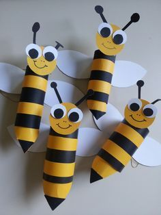 Toilet Paper Roll Bees - (sorry, no link but I think you can figure out how to make these cute bees)