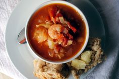 Tomato Fennel Soup (with Shrimp) Drink Recipes, Cooking Recipes, Fennel Soup, Fennel Recipes, Fabulous Foods, Chana Masala, Thai Red Curry, Shrimp, Food And Drink