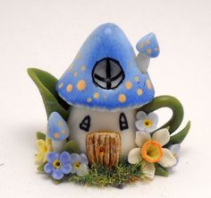 1/12TH scale - Fantasy fairy mushroom house teapot by Lory
