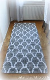 Carpet Runner Rods For Stairs Crochet Doily Rug, Crochet Cord, Crochet Carpet, Tapestry Crochet, Beige Carpet, Diy Carpet, Rugs On Carpet, Plastic Carpet Runner, Giant Knit Blanket