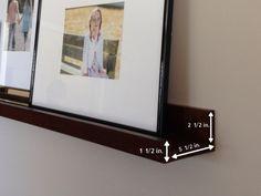 DIY Picture Ledge tutorial