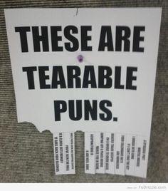 Tearable Puns ---- HHHHAAAAAaaaAAARRR!