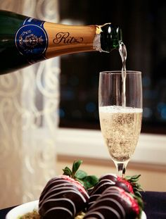 Chocolate Covered Strawberries and a Fine Champagne...