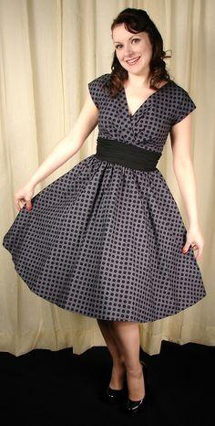 Greta Polka Dot Swing Dress  Folter Clothing  $84.00