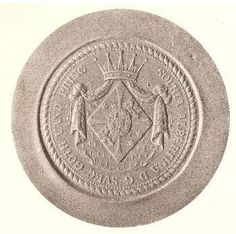Seal with the coat of arms of Princess Sophia Albertina of Sweden (1753-1829).
