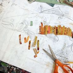 Art Ed Central loves: Making our paper collages Paper Collage Art, Collage Art Mixed Media, Paper Art, Collage Collage, Collage Making, Collage Artists, Cut Paper, Dolan Geiman, Paper Mosaic