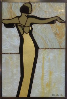 Stained glass dancing couple