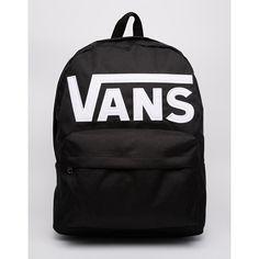 Vans Old Skool II Logo Backpack ($47) ❤ liked on Polyvore featuring bags, backpacks, logo bags, backpacks bags, knapsack bags, rucksack bag and logo backpacks