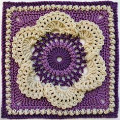Cow_parsley_purple_small2... Free pattern! This is an awesome square!