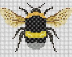 Bumble Bee Cross Stitch - PDF PATTERN