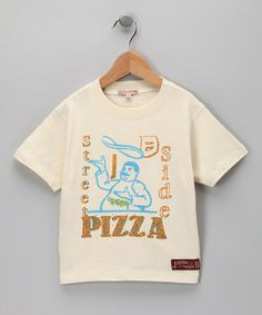 Take a look at this Off-White Street Pizza Tee - Infant, Toddler & Boys by JB Original Vintage on #zulily today!