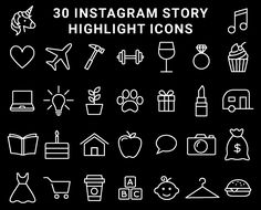 Monochrome Black and White Instagram Highlight Cover Icons.  Perfect for organising your personal or business Instagram.  These minimalist monochrome icons are nice and simple and are a digital download. Instagram Logo, Free Instagram, Instagram Story, Black Highlights, Story Highlights, Black And White Instagram, Alice And Wonderland Quotes, Instagram Highlight Icons, Super Quotes