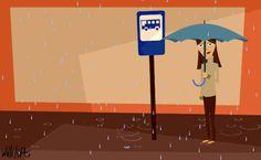 Then it rains …