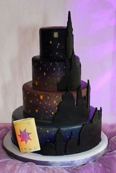 tangled wish lanterns cake