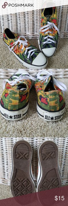 Converse All Stars Unisex Sneakers Fun and funky brightly colored Converse All Stars. Mens Size 4. Womens Size 6. Verg good used condition. From a smoke-free home. New laces. Converse Shoes Sneakers