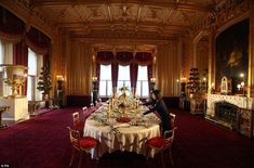 Just as it was: The State Dining room has been recreated to show how Queen Victoria, Prince Albert and their family in the mid-19th century would have enjoyed Christmas