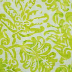 chartreuse and white batik scarf pattern