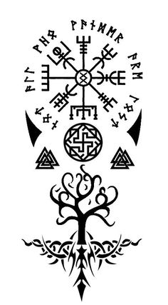 Viking Tattoo Symbol, Celtic Tattoo Symbols, Viking Symbols, Viking Runes, Celtic Tattoos, Viking Tattoos, Ethnisches Tattoo, Rune Tattoo, Norse Tattoo