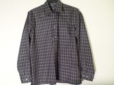Men's Tommy Jeans Long Sleeve Button Front Plaid Shirt Size M LIGHTWEIGHT NWOT #TommyJeans #ButtonFront