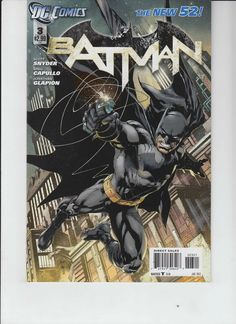 BATMAN # 3 1:25 VARIANT COVER BY SCOTT SNYDER AND GREG CAPULLO.