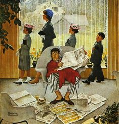Norman Rockwell - Easter Morning