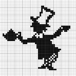 Mad hatter x-stitch C2c, Cross Stitch Designs, Cross Stitch Patterns, Cross Stitching, Cross Stitch Embroidery, Crochet Chart, Afghan Crochet, Crochet Blankets, Filet Crochet