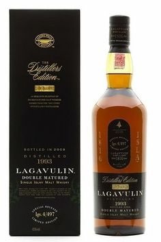 Lagavulin The Distiller's Edition Double Matured Single Islay Malt Whisky Distilled 1993 Cigars And Whiskey, Scotch Whiskey, Bourbon Whiskey, Whiskey Bottle, Bourbon Drinks, Whiskey Decanter, Vodka, Tequila, Wine Pairings