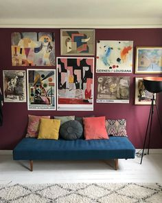 my scandinavian home: Snapshots from a Colourful Copenhagen Home Living Room Modern, Home And Living, Living Room Decor, Living Spaces, Living Rooms, Burgundy Walls, Burgundy Living Room, Deco Furniture, Living Furniture