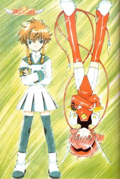 Tags: CLAMP, Angelic Layer, Hikaru (Angelic Layer), Misaki Suzuhara, Scan, Official Art