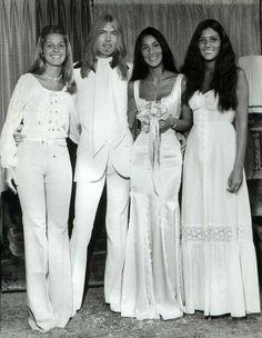 Cher & Gregg Allman on their wedding day June 30, 1975