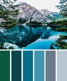 green blue and grey landscape color inspiration #color #palette