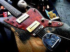 Guitar red & blue. Nice image